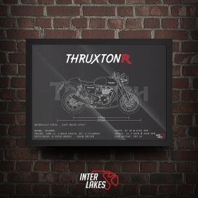 QUADRO/POSTER TRIUMPH THRUXTON 1200 R 2019
