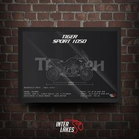 QUADRO/POSTER TRIUMPH TIGER 1050 SPORT 2015