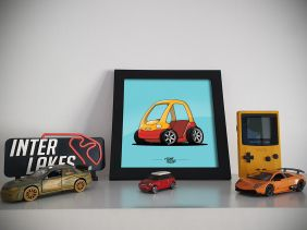 QUADRO/POSTER TUNED TOYCAR - TOON MY CAR