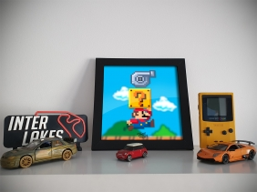 QUADRO/POSTER TURBO MARIO - TOON MY CAR