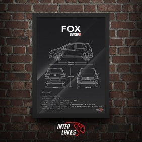 QUADRO/POSTER VOLKSWAGEN FOX G3 HIGHLINE 1.6