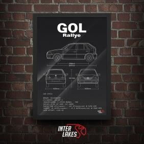 QUADRO/POSTER VOLKSWAGEN GOL G3 RALLYE 1.8