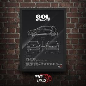 QUADRO/POSTER VOLKSWAGEN GOL G6 1.6 8V RALLYE