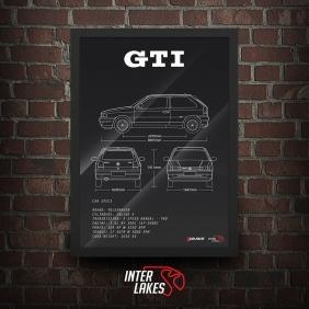 QUADRO/POSTER VOLKSWAGEN GOL GTI 8V