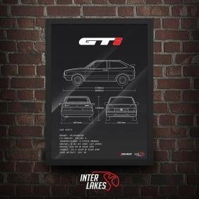 QUADRO/POSTER VOLKSWAGEN GOL GTI 93
