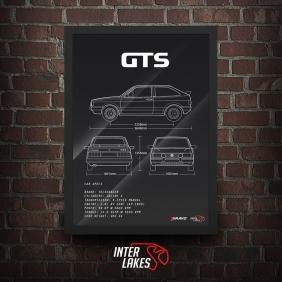 QUADRO/POSTER VOLKSWAGEN GOL GTS 1989