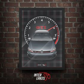 QUADRO/POSTER VOLKSWAGEN GOLF GTI MK7 - SÉRIE ICONS