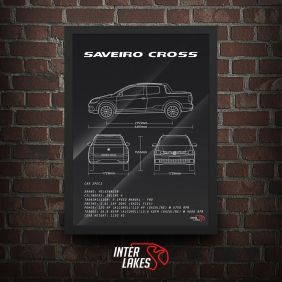 QUADRO/POSTER VOLKSWAGEN SAVEIRO CROSS CD G7