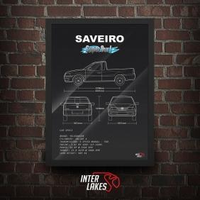 QUADRO/POSTER VOLKSWAGEN SAVEIRO G3 SUPERSURF