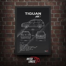 QUADRO/POSTER VOLKSWAGEN TIGUAN R-LINE 2014