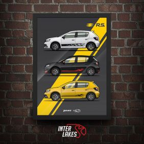 QUADRO/POSTER RENAULT SANDERO RS EVOLUTION