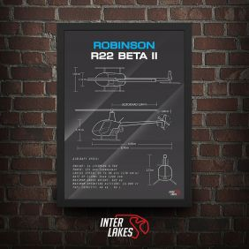QUADRO/POSTER ROBINSON R22 BETA II