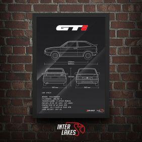 QUADRO/POSTER VOLKSWAGEN GOL GTI 90