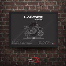 QUADRO/POSTER YAMAHA LANDER XTZ 250