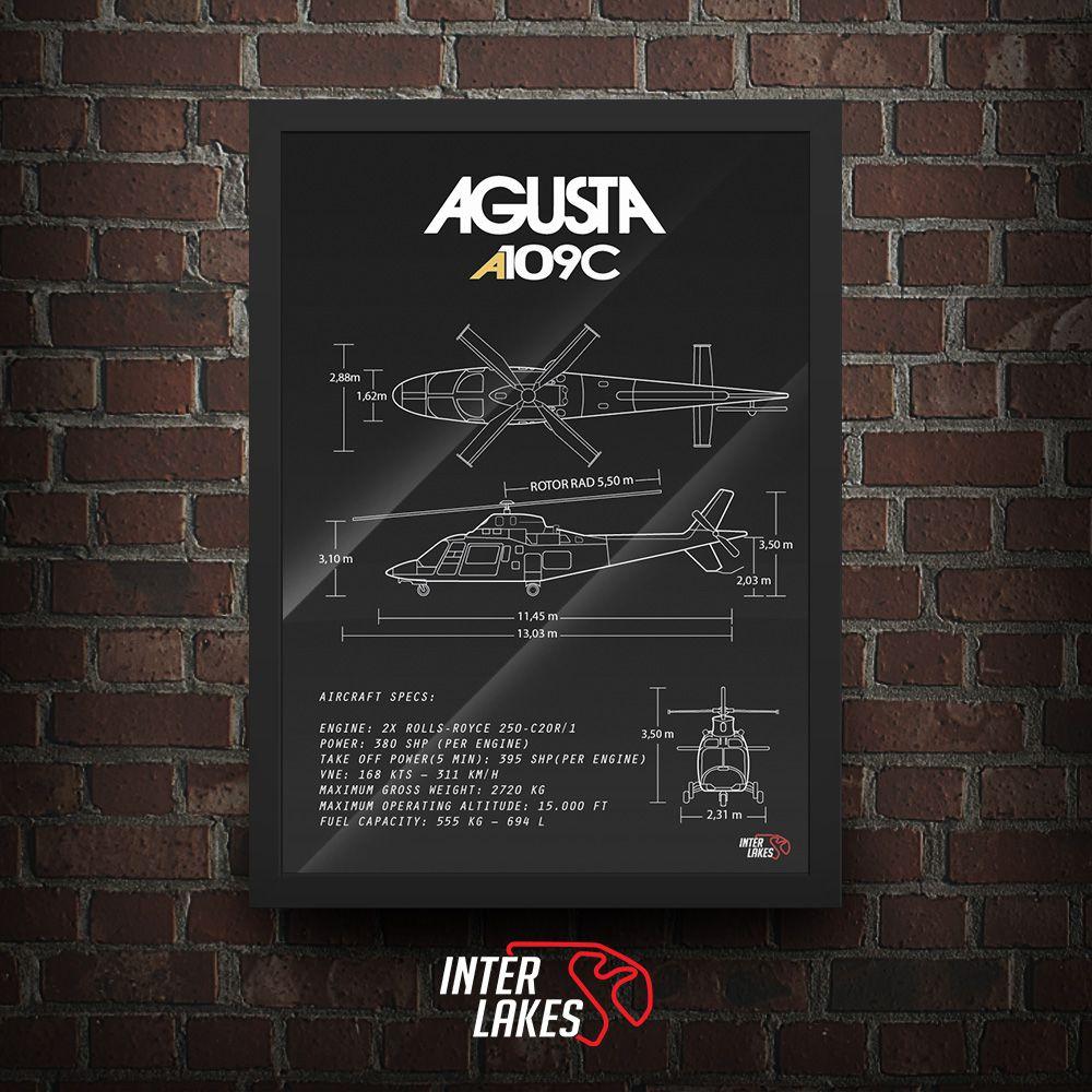 QUADRO/POSTER AGUSTA A109C