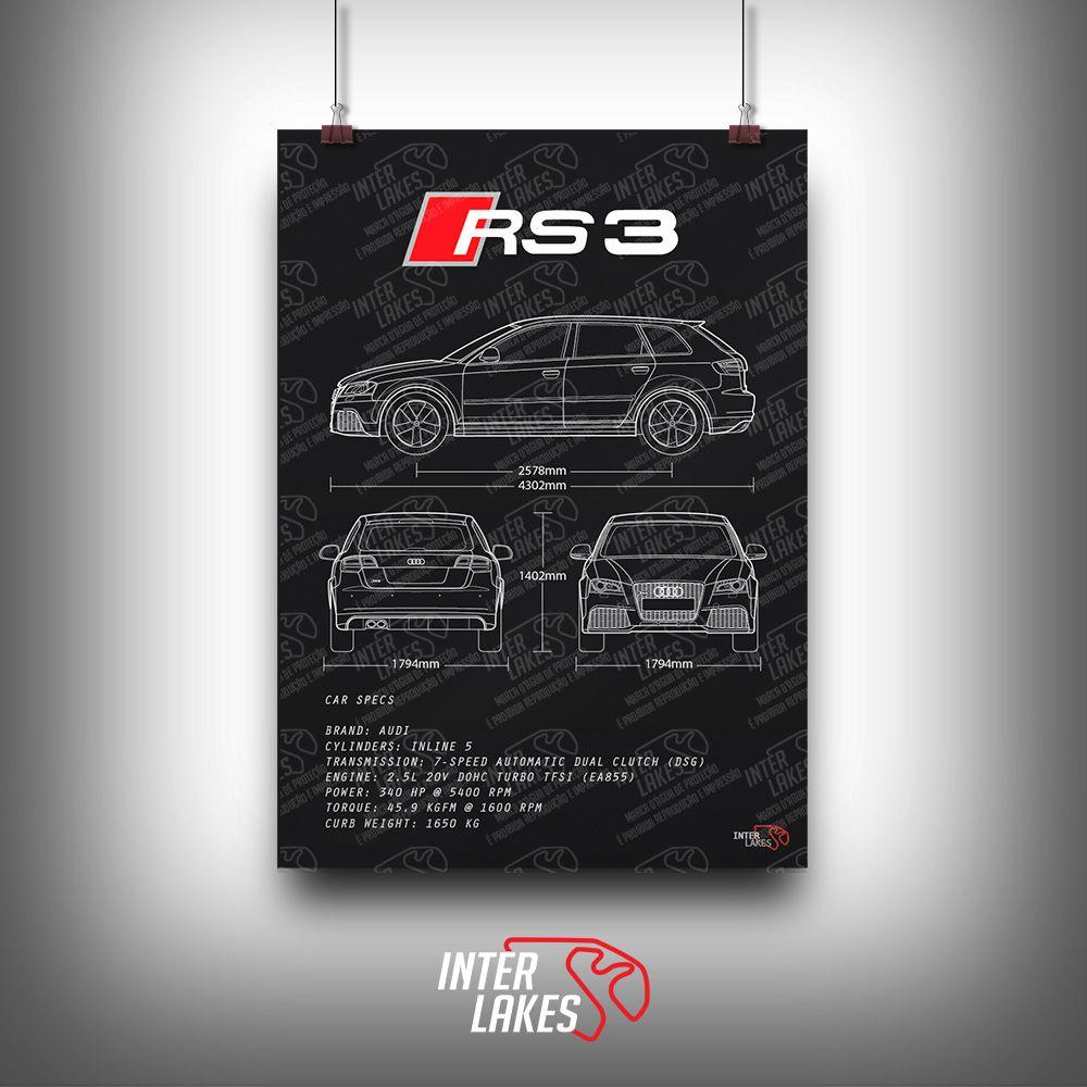 QUADRO/POSTER AUDI RS3 SPORTBACK 2012