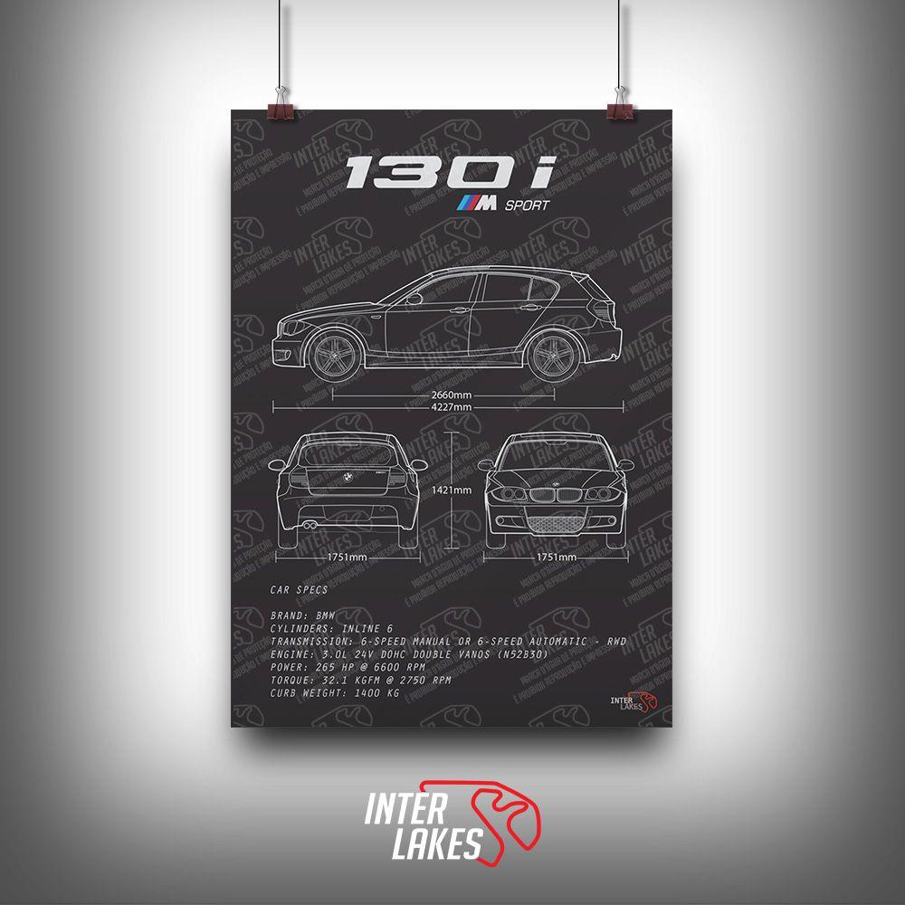 QUADRO/POSTER BMW 130I 3.0 SPORTBACK