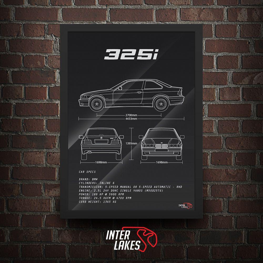 QUADRO/POSTER BMW 325I E36 COUPÉ