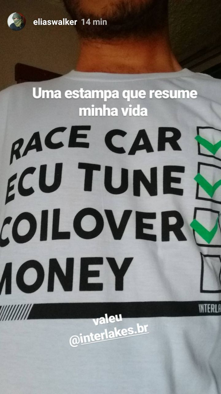 CAMISETA YES RACECAR NO MONEY - INTERLAKES