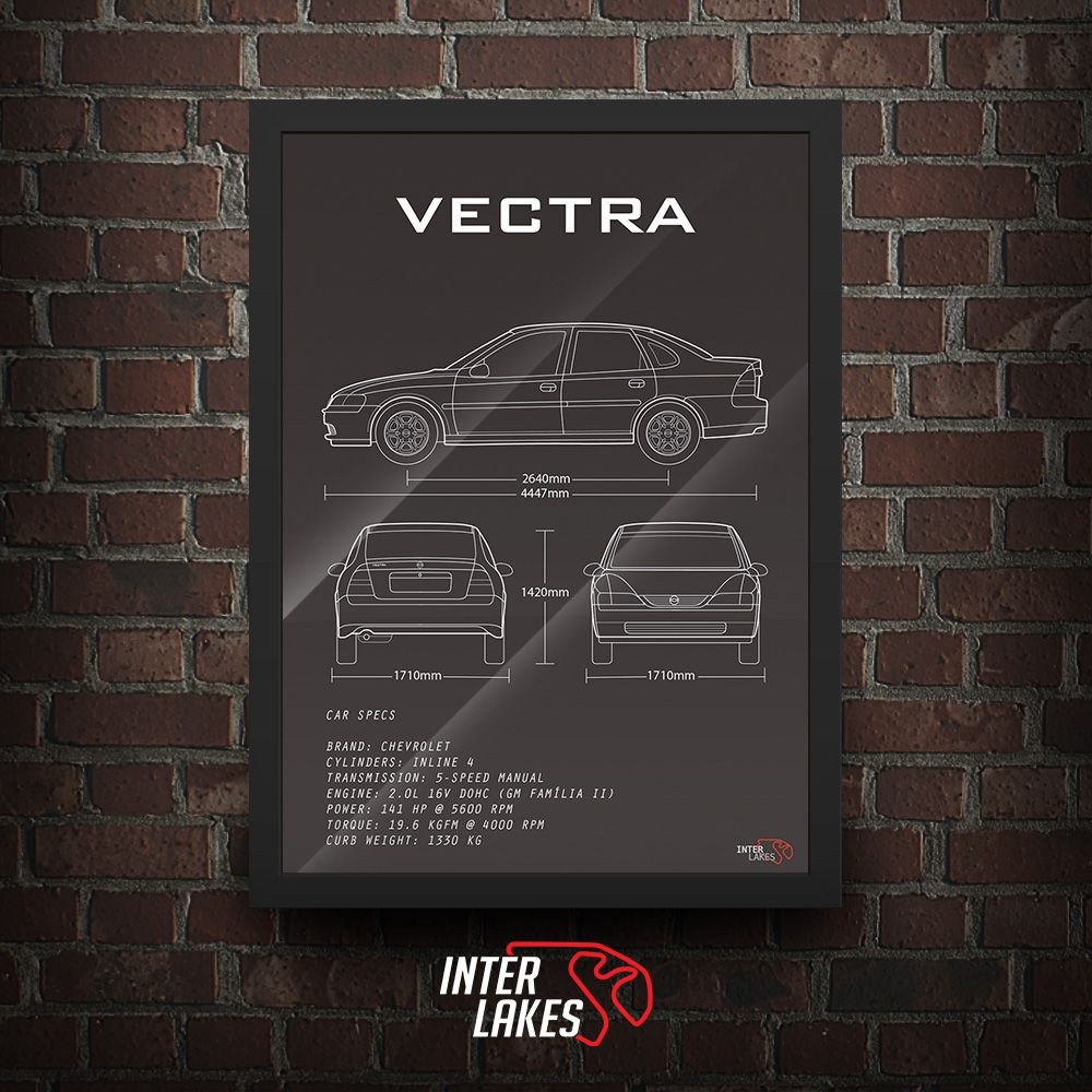 QUADRO/POSTER CHEVROLET VECTRA CD 2.0 16V