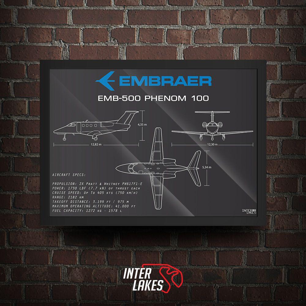 QUADRO/POSTER EMBRAER PHENOM 100