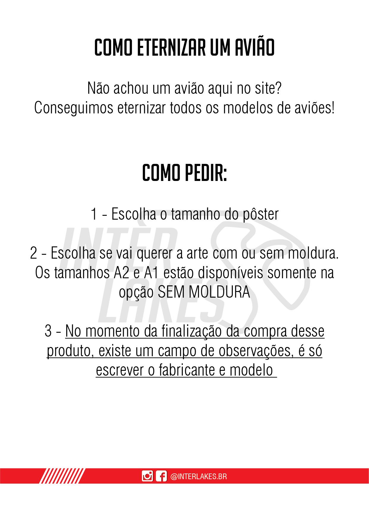 ENCOMENDE SEU AVIÃO