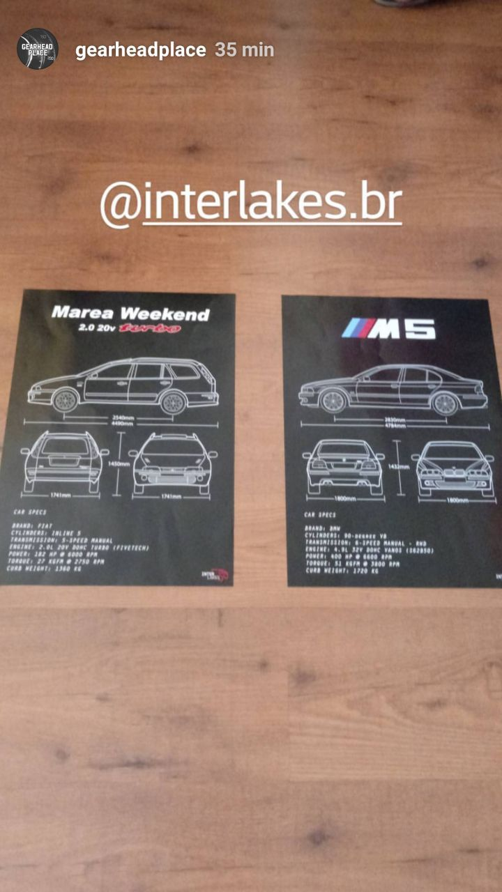 QUADRO/POSTER FIAT MAREA WEEKEND 2.0 TURBO