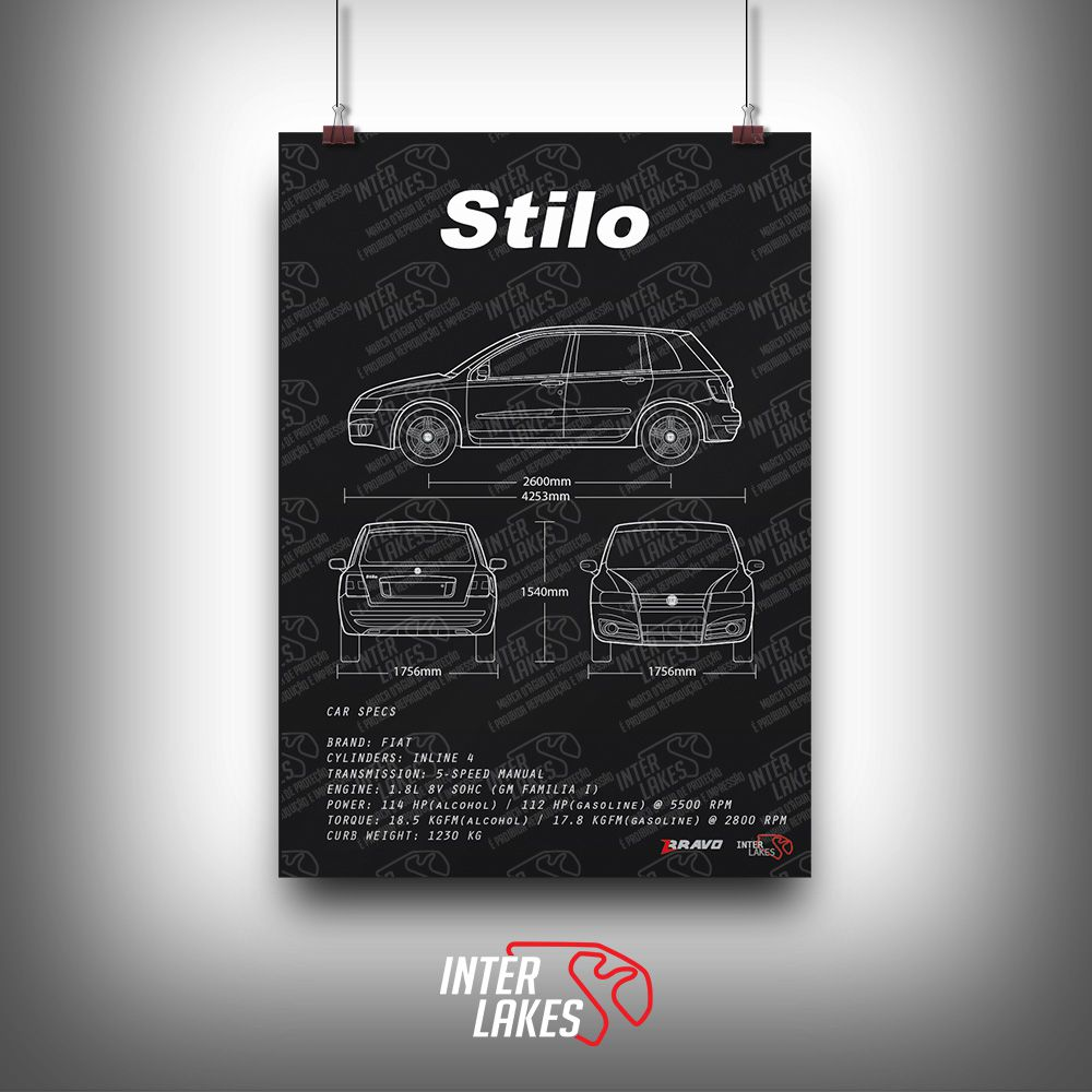 QUADRO/POSTER FIAT STILO 1.8 ATTRACTIVE 2010