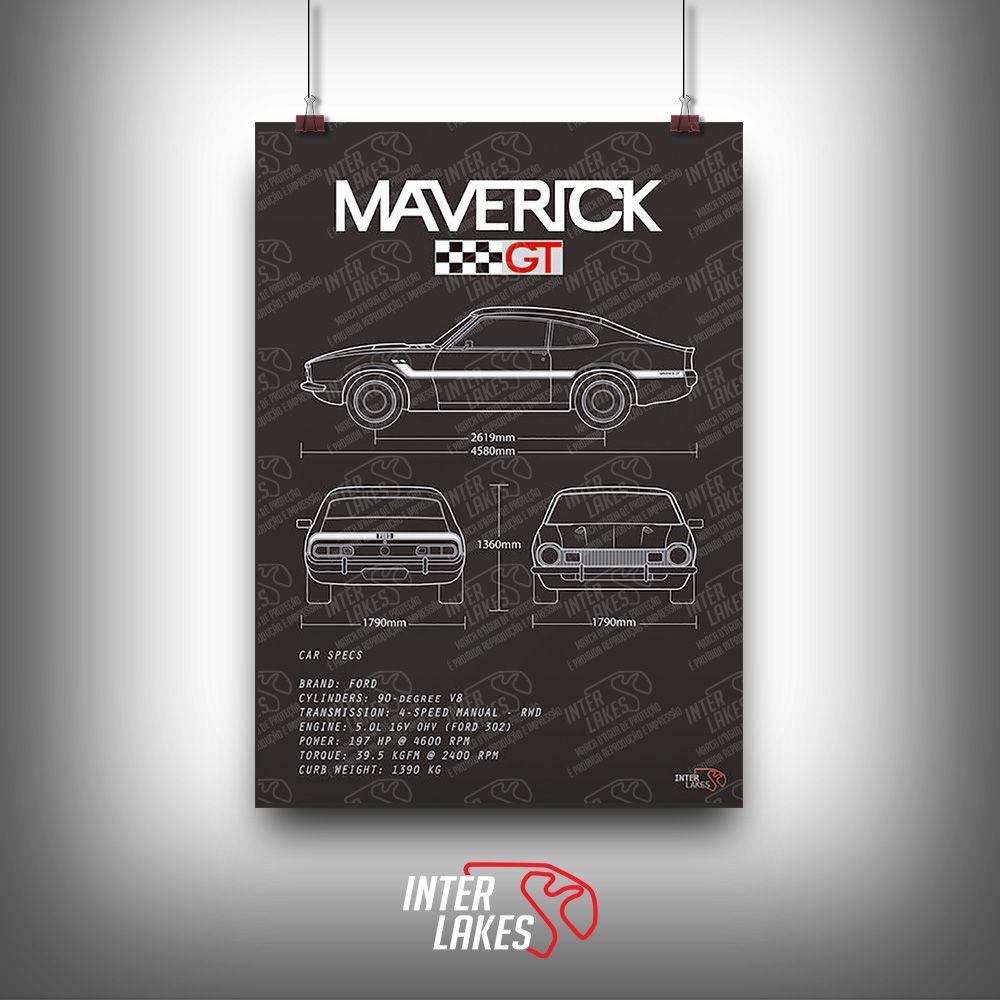 QUADRO/POSTER FORD MAVERICK GT V8