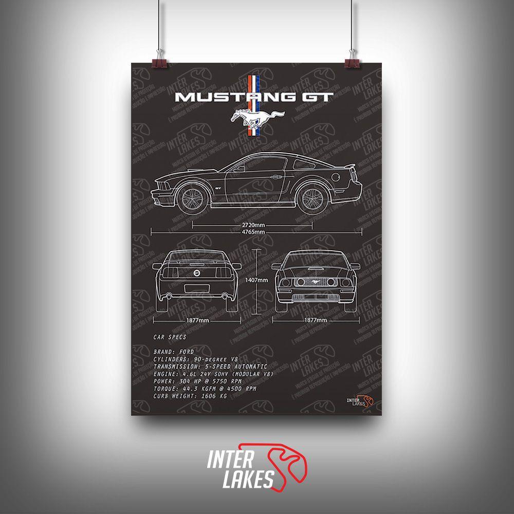 QUADRO FORD MUSTANG GT V8