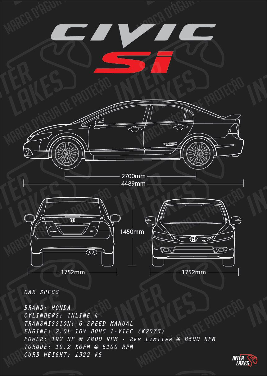HONDA CIVIC SI 2009+ K20
