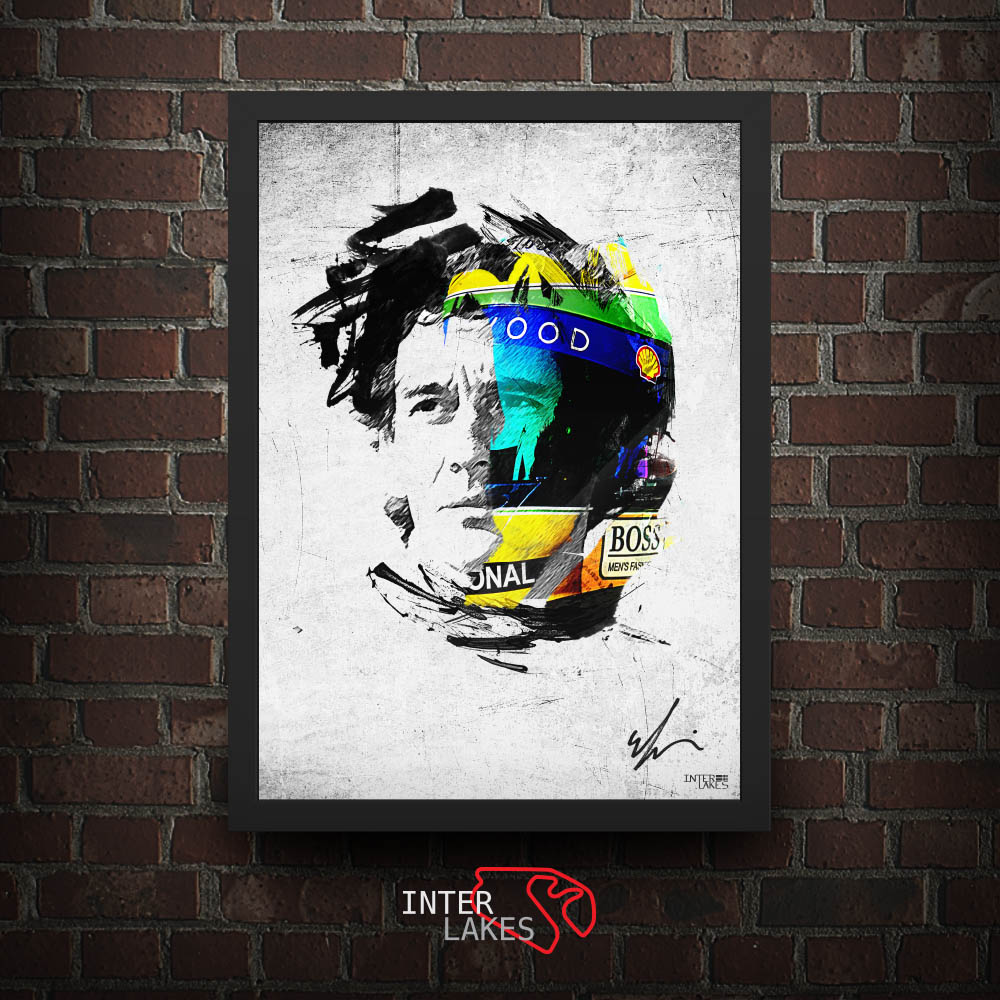 PACK 3 QUADROS DECORATIVOS AYRTON SENNA (11% OFF)