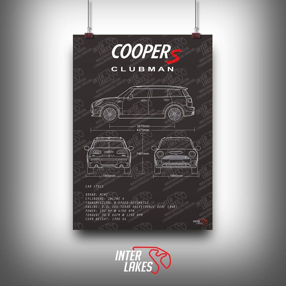 QUADRO/POSTER MINI COOPER S CLUBMAN F54
