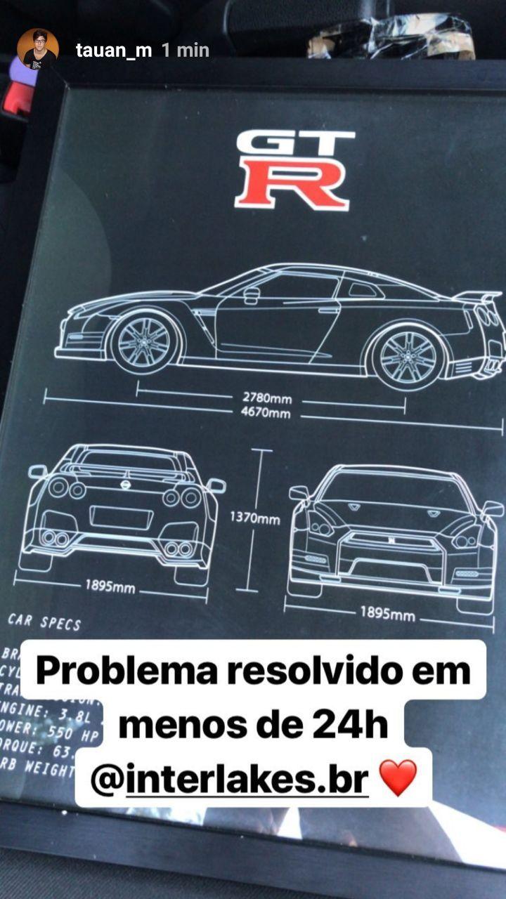 QUADRO/POSTER NISSAN GT-R R35 BLACK EDITION