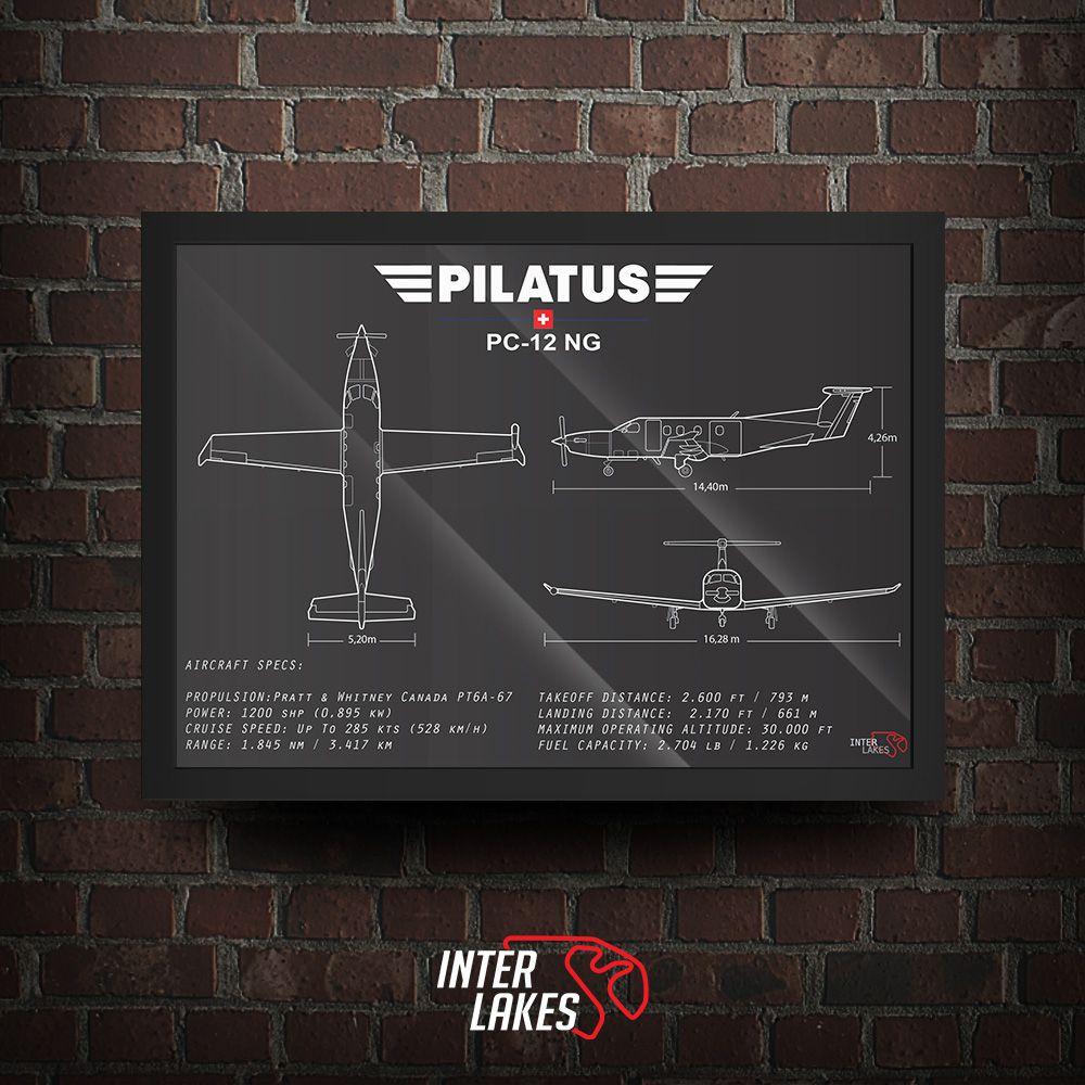 QUADRO/POSTER PILATUS PC-12NG