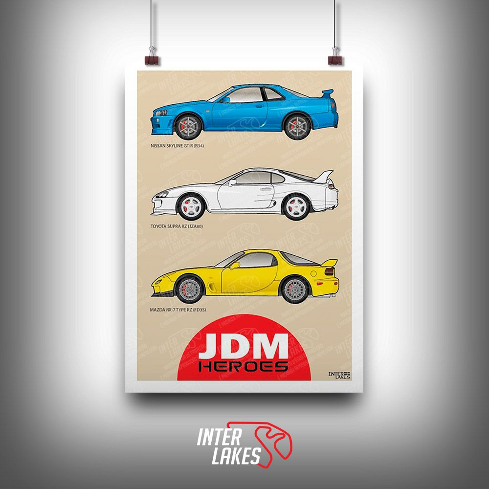QUADRO/POSTER 90'S JDM HEROES