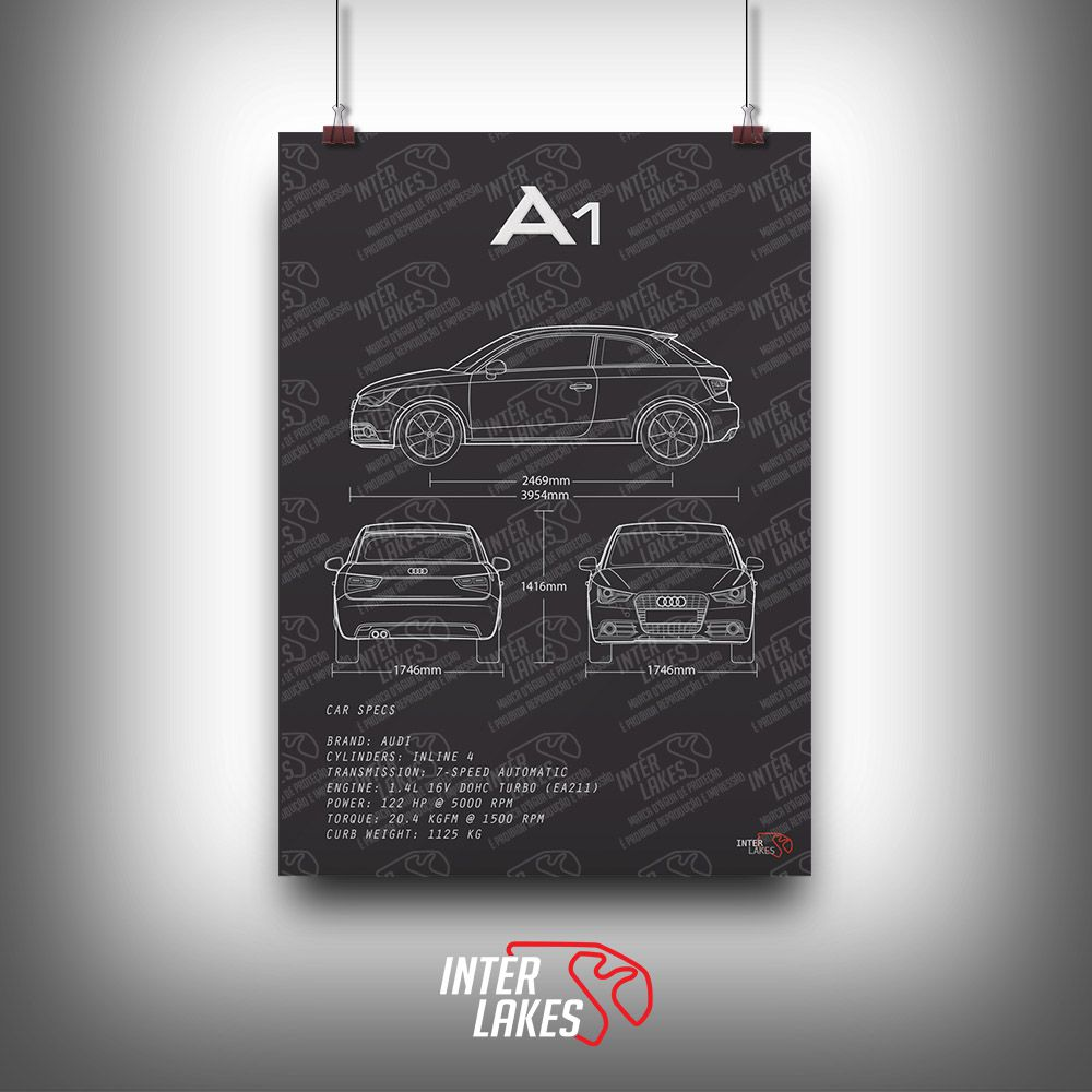 QUADRO/POSTER AUDI A1 1.4 TFSI ATTRACTION