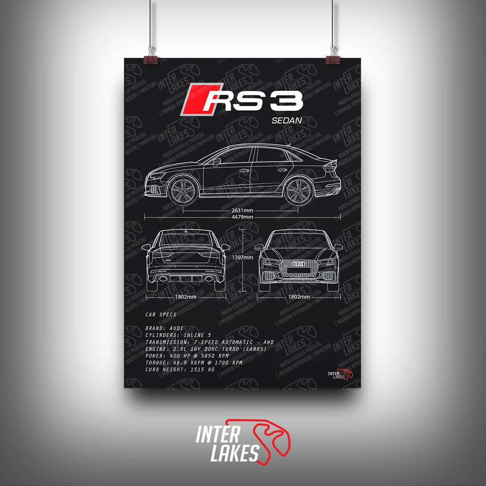 QUADRO/POSTER AUDI RS3 SEDAN