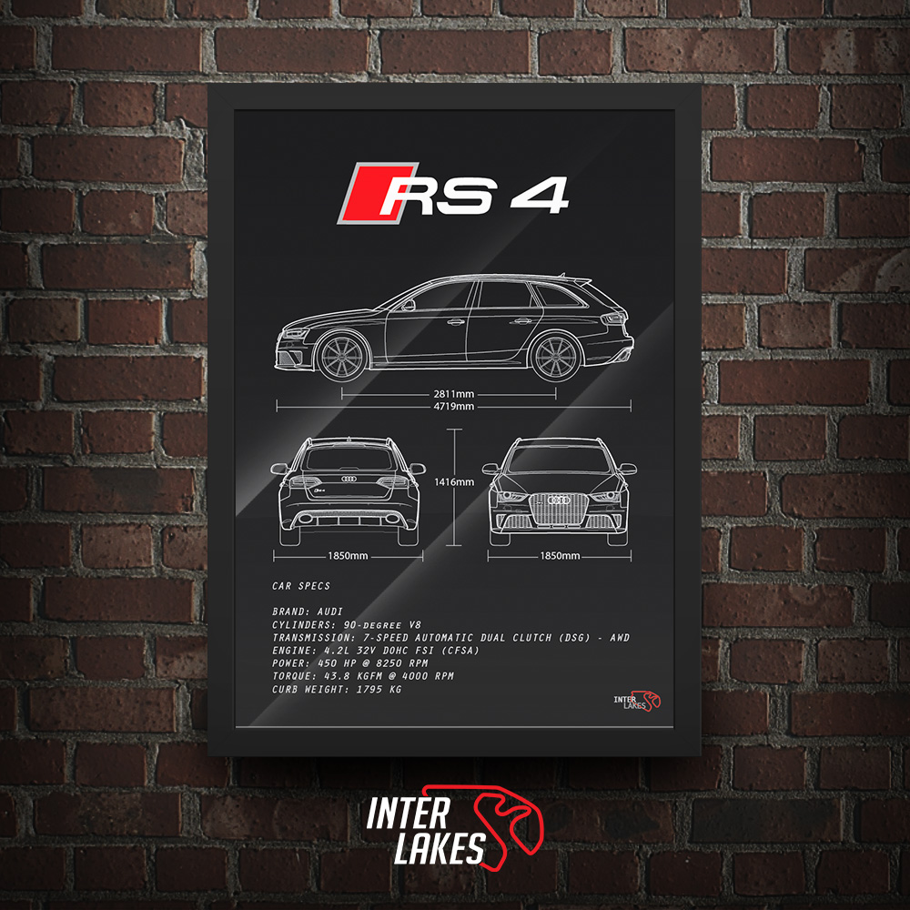 QUADRO/POSTER AUDI RS4 AVANT B8