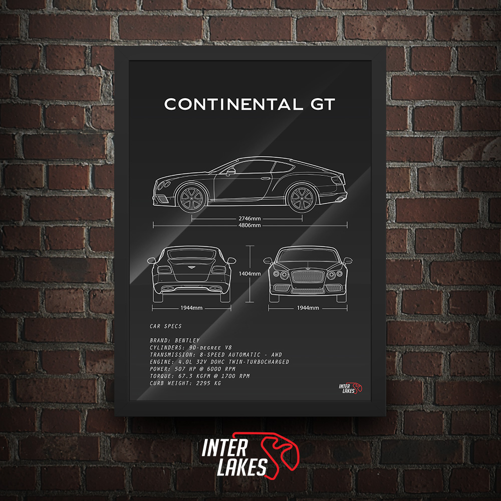 QUADRO/POSTER BENTLEY CONTINENTAL GT V8 2013