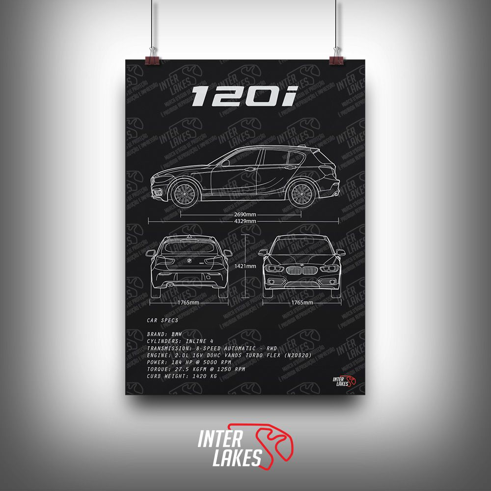 QUADRO/POSTER BMW 120I F20