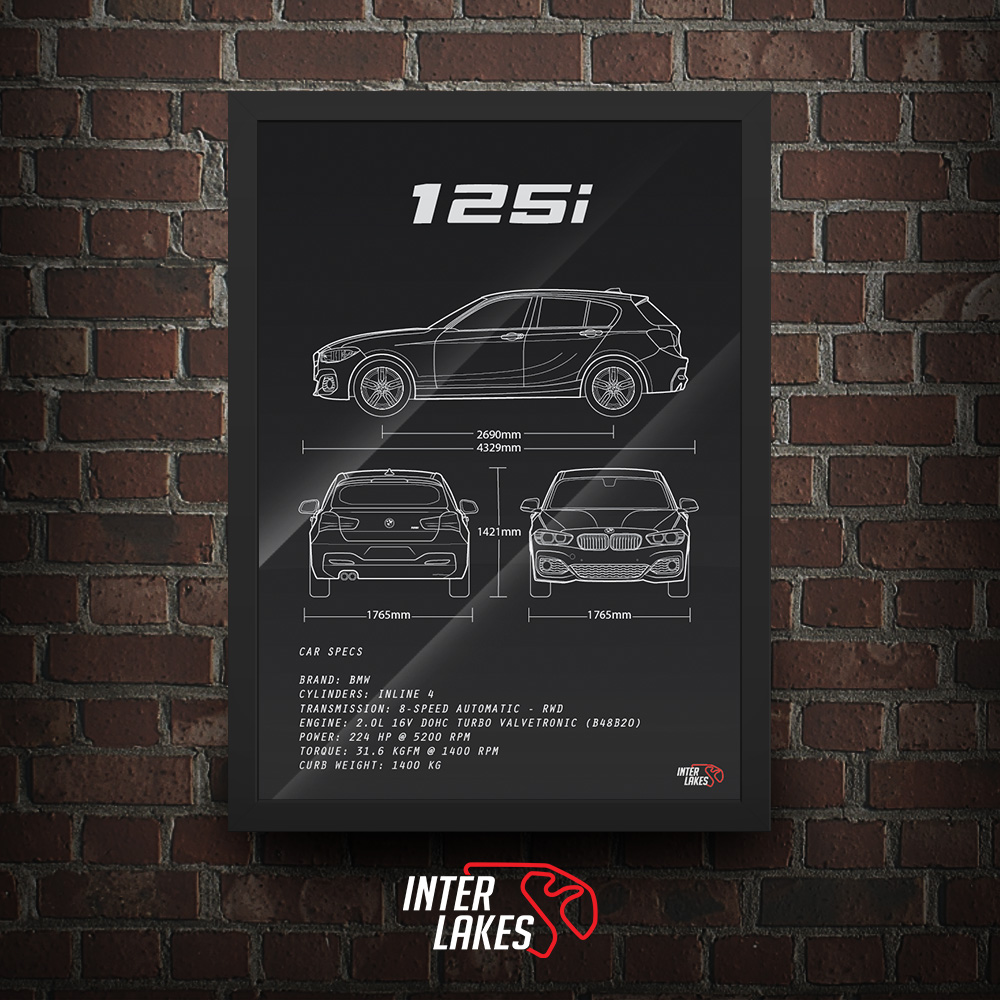 QUADRO/POSTER BMW 125I M SPORT 2016