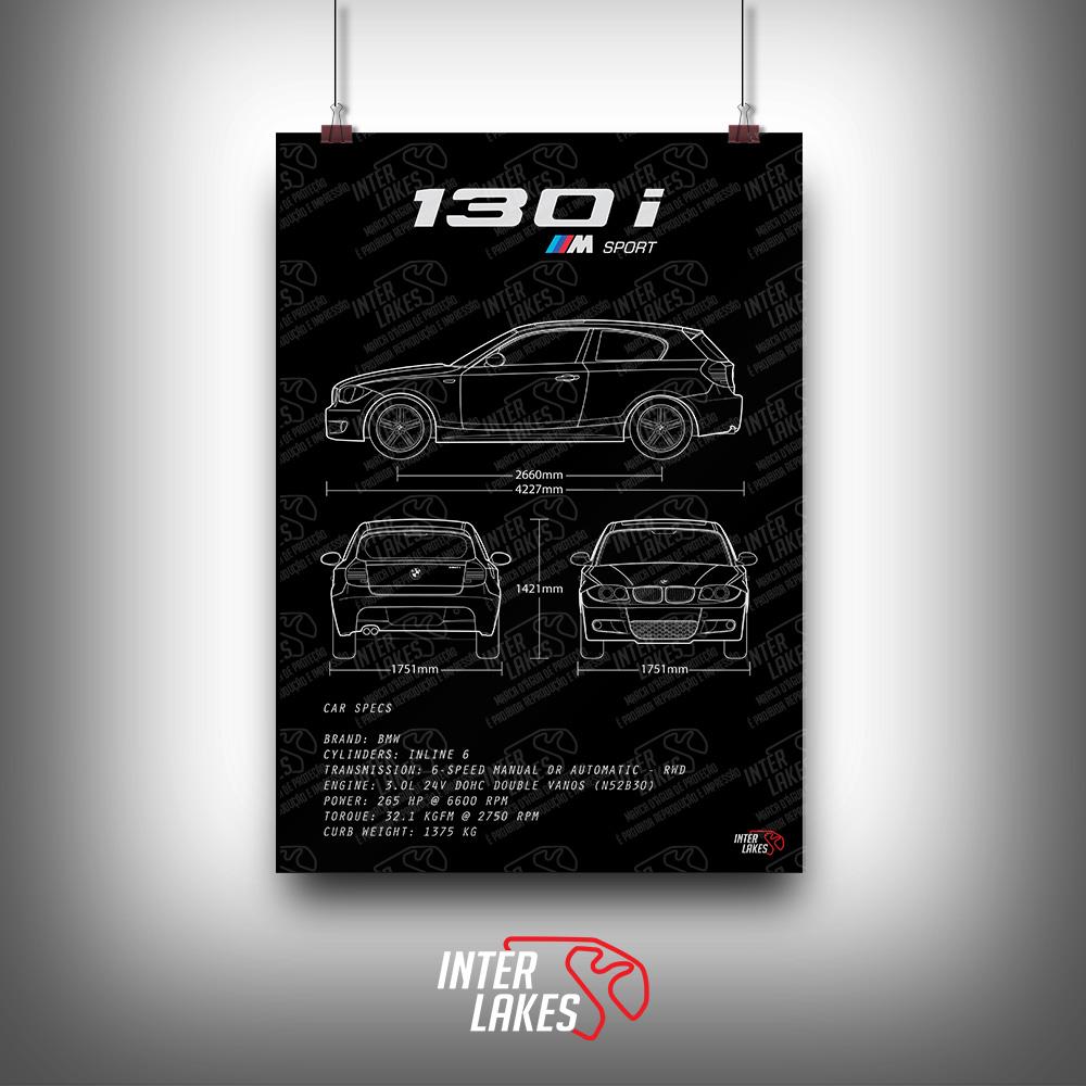 QUADRO/POSTER BMW 130I SPORTBACK E81