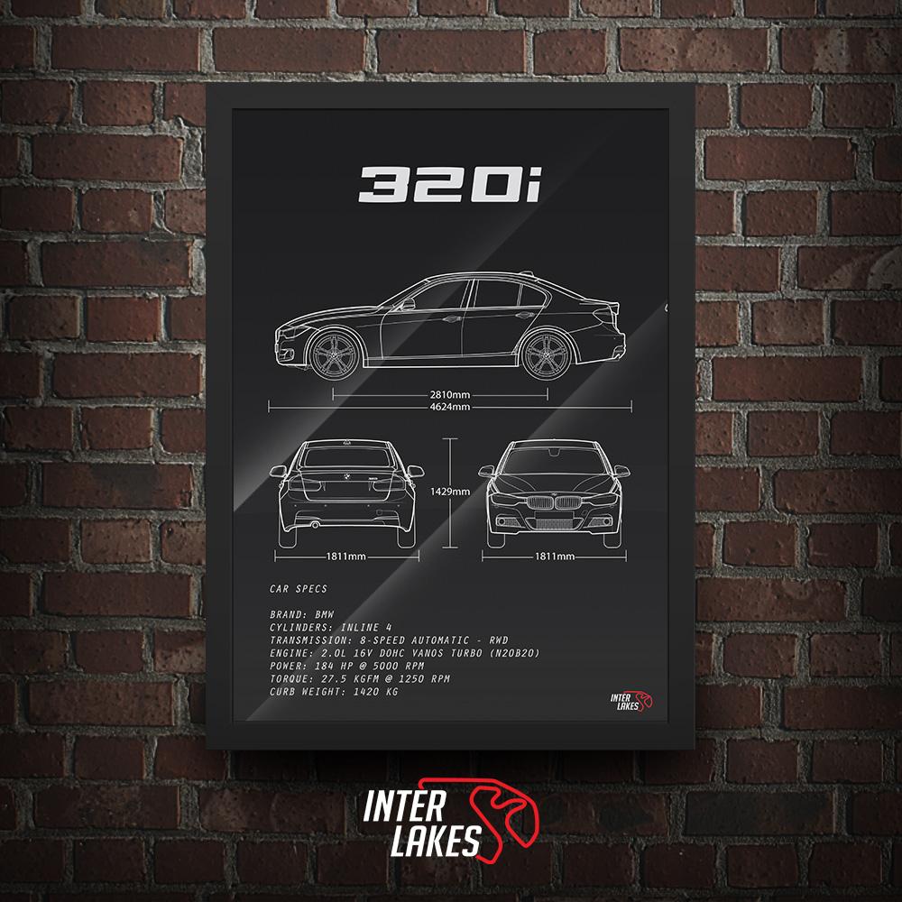 QUADRO/POSTER BMW 320I F30 M SPORT