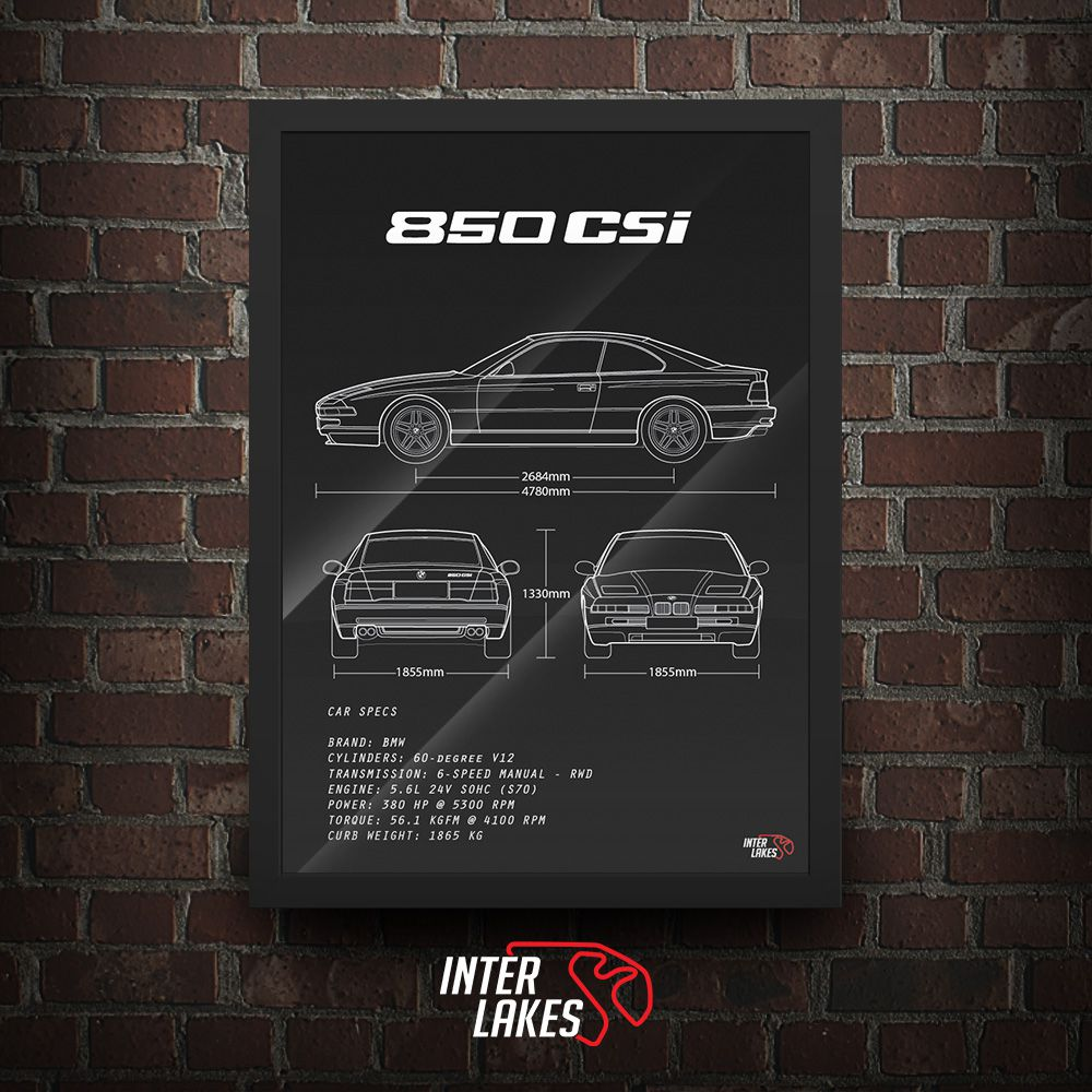 QUADRO/POSTER BMW 850 CSI