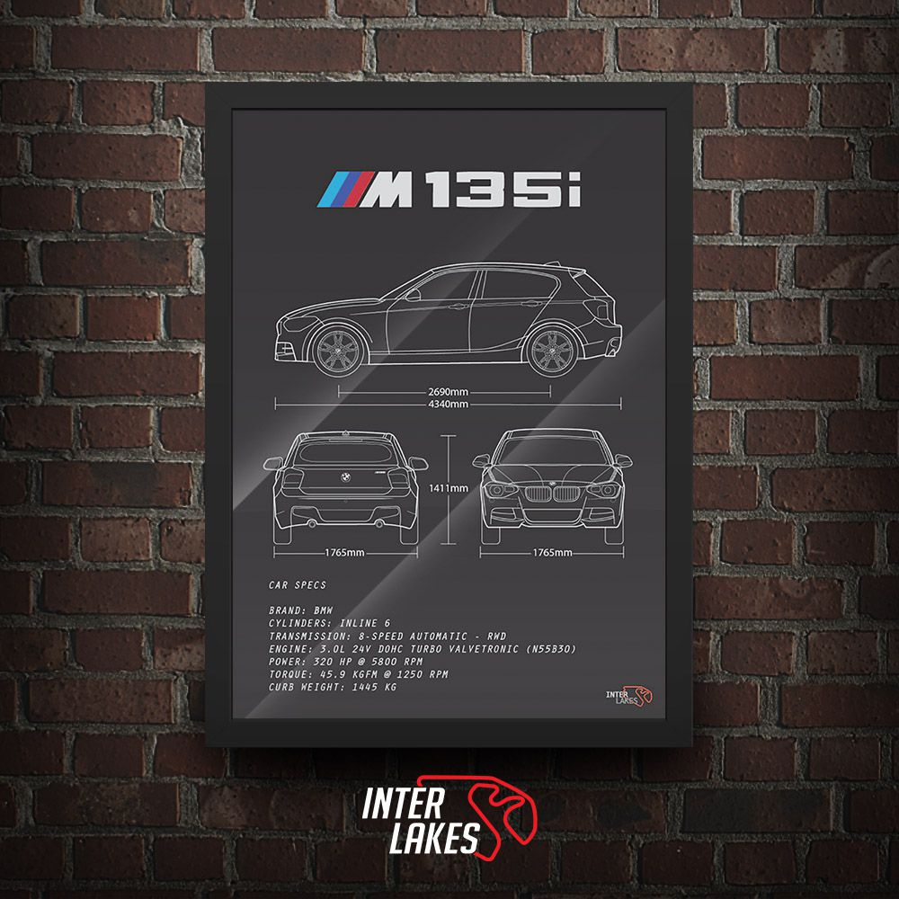 QUADRO/POSTER BMW M135I 2015