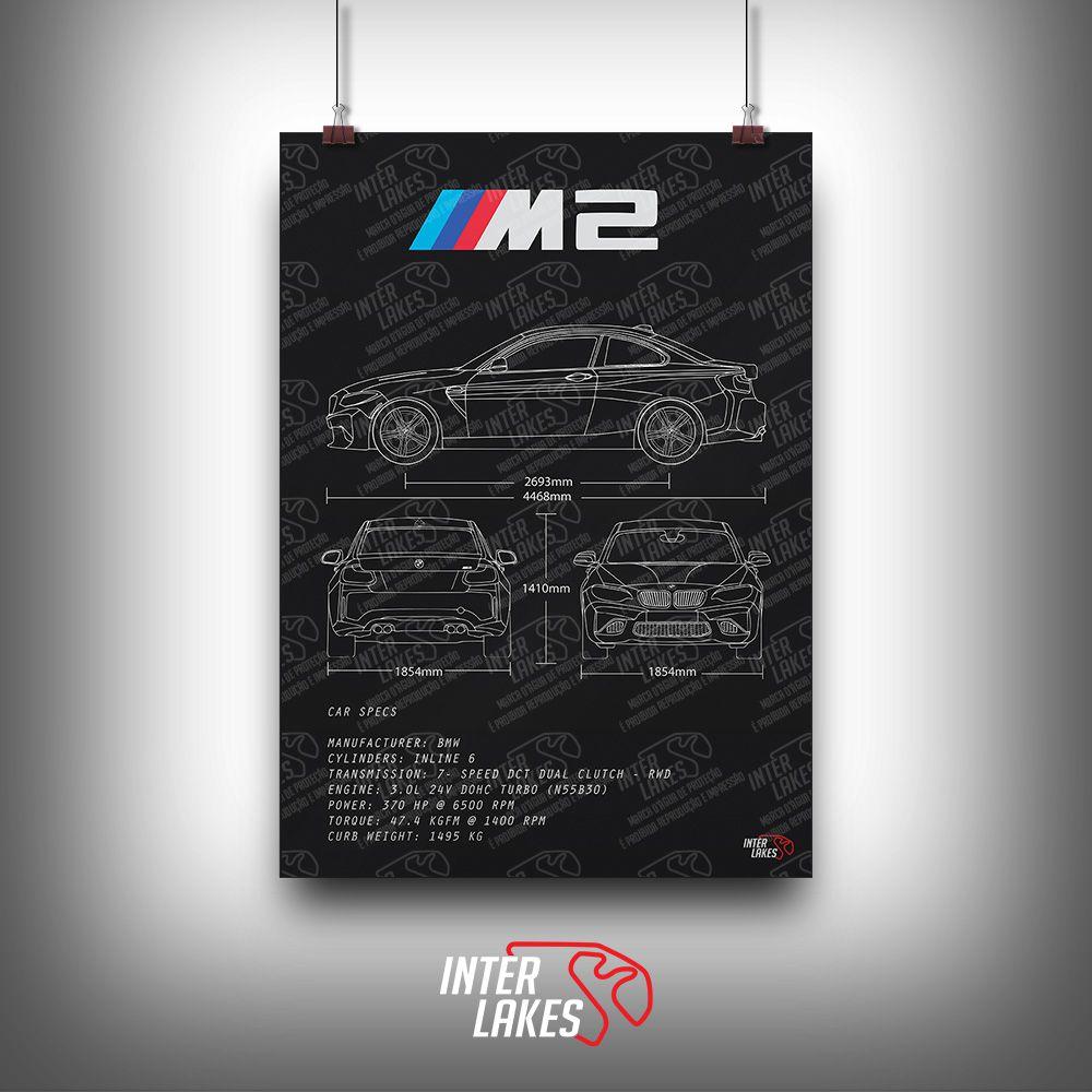 QUADRO/POSTER BMW M2