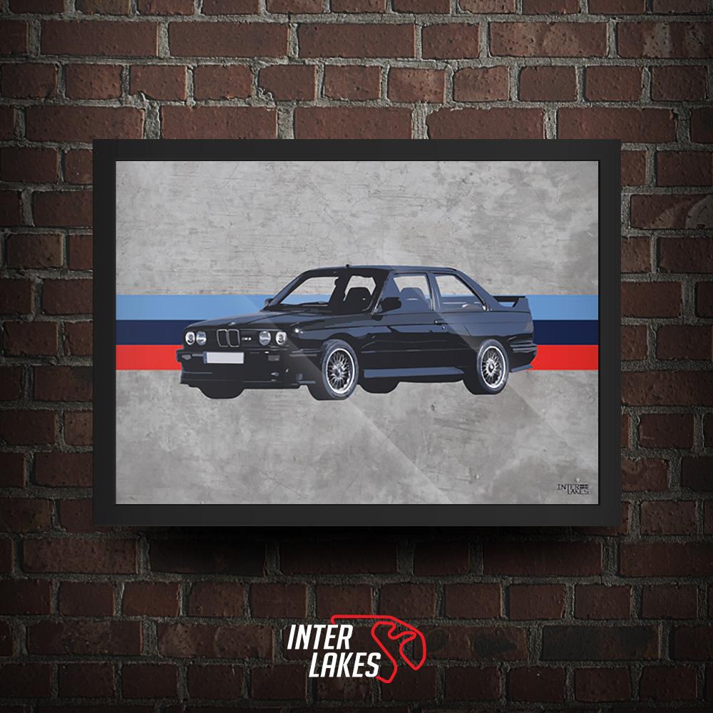 QUADRO/POSTER BMW M3 E30 SÉRIE 3 COUPE