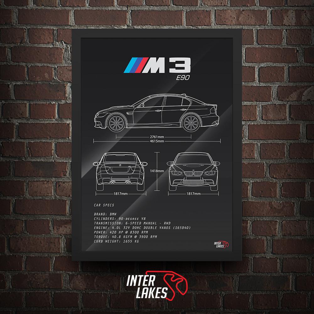 QUADRO/POSTER BMW M3 E90