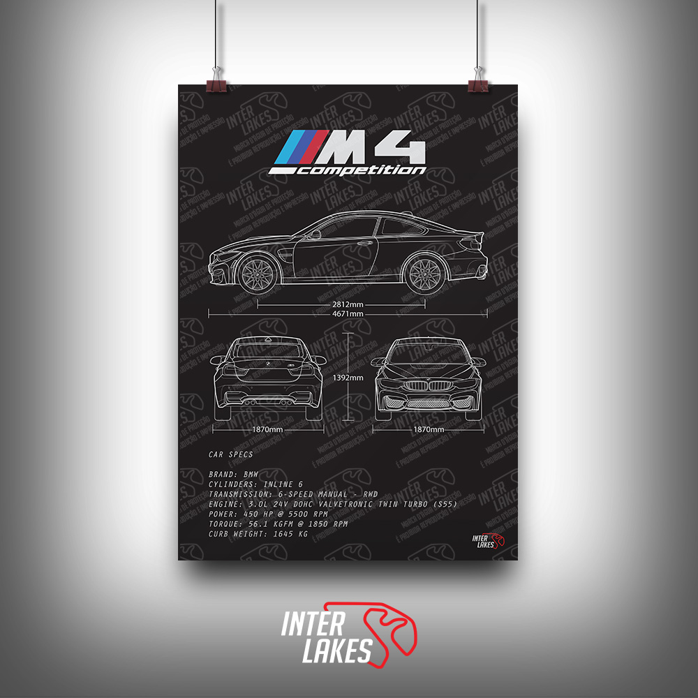 QUADRO/POSTER BMW M4 COMPETITION PACKAGE